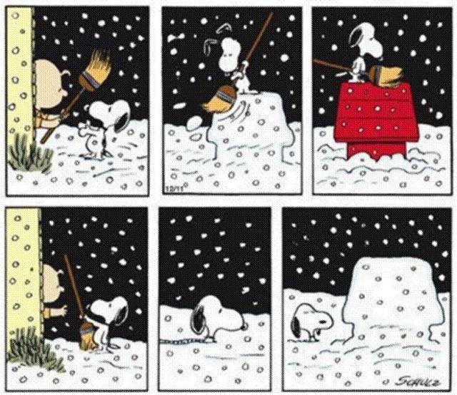 Snoopy e la neve